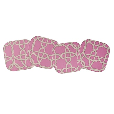 The Designs of Distinction 4 Piece Chain Laminated Coaster Set