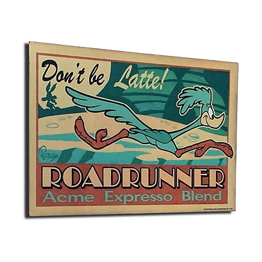 Lord Mischief Chuck Jones ''Don't Be Latte'' by Mike Peraza Vintage Advertisement Plaque