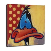 Lord Mischief Chuck Jones ''Daffy Duck'' by Tim Rogerson Graphic Art on Wrapped Canvas