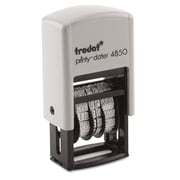 Trodat Economy Micro 5-in-1 Date Stamp, Blue/Red, Each (5007)