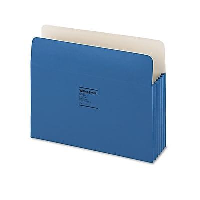 Wilson Jones® ColorLife® Expanding File Pockets, Dark Blue, Letter, 10/Box (WCC66BL)