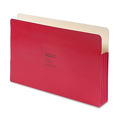 Wilson Jones® ColorLife® Expanding File Pockets, Red, Legal, 25/Each (74R)