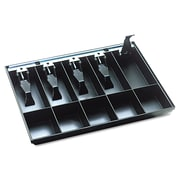 "SteelMaster® Cash Drawer Replacement Tray, 16"" x 11 1/4"" x 2 1/4"", Plastic, Black (225286204)"