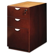 "Mayline Group Mira Veneer Series Pedestal for Desk, Box/Box/File, Medium Cherry, 27 3/4""H x 15""W x 28""D"