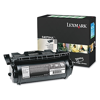 Lexmark™ 64075HA Extra High-Yield Toner, 21000 Page-Yield, Black