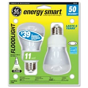 GE Energy Smart® Compact Fluorescent Reflector Light Bulb, 14 W, Soft White, Flood-Spot Reflector, 2/Pack (73160)
