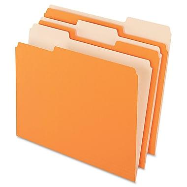 Pendaflex Colored File Folders, Letter, Orange/Light Orange, 100/Box (1521/3ORA)