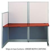 Bush®, Straight Workstation (Box 2 of 2) Office-in-an-Hour, Hansen Cherry, Melamine (WC36492A2-03)