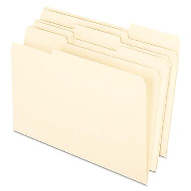 Pendaflex Earthwise 100% Recycled Manila File Folder, Legal, Manila, 100/Box (76520)