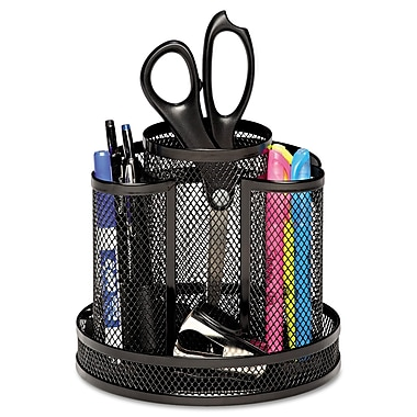 Rolodex™, Wire Mesh Spinning Desk Sorter, Black, Each (1773083)