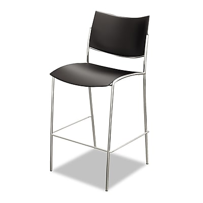 Mayline® Escalate Series, Steel, Office, Black/Chrome, 2/Carton (ESS2B)