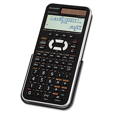 four function calculator sharp® el w516xbsl scientific calculator lcd 16 digit