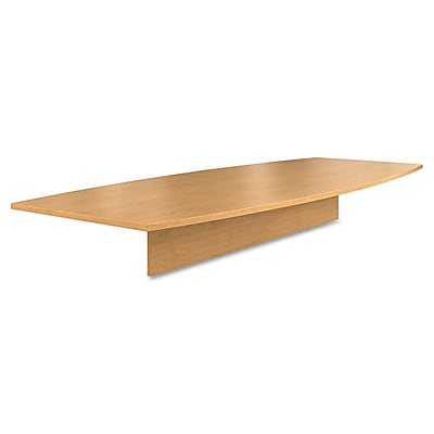 HON®, Preside Boat-Shaped Conference Table Top, 120 x 48, Harvest (T12048PNC)