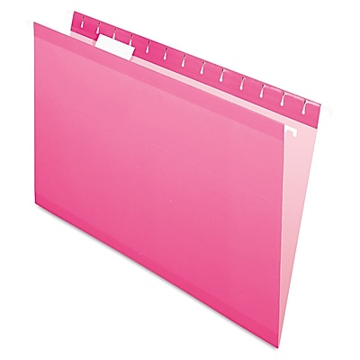 Pendaflex® Colored Reinforced Hanging Folders, Pink, Legal, 25/Box (415315PIN)