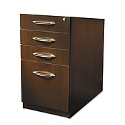 Safco® Aberdeen Collection in Mocha, File Pedestal for Desk