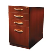 Mayline Aberdeen Series 4 Drawer Mobile Pedestal File Cherry Letter Legal