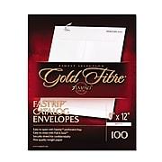 Ampad® Gold Fibre® Fastrip™ Release & Seal White Catalog Envelope, White, 9 x 12, 100/Box (73127)