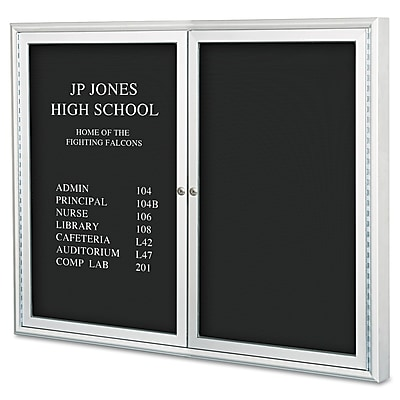 Best-Rite® Enclosed Directory Board, Black, 36