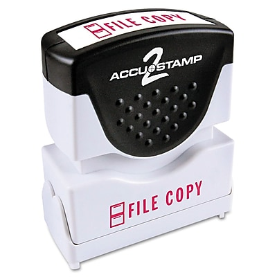 Accu-Stamp2® One-Color Pre-Inked Shutter Message Stamp, FILE COPY, 1/2