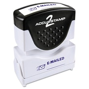 "Accu-Stamp2® One-Color Pre-Inked Shutter Message Stamp, EMAILED, 1/2"" x 1-5/8"" Impression, Blue Ink (035577)"