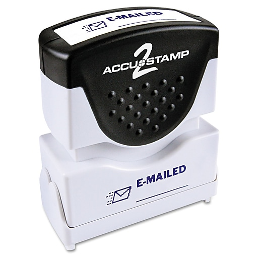 Accustamp2 Pre Inked Shutter Stamp With MicrobanR Blue Each 035577