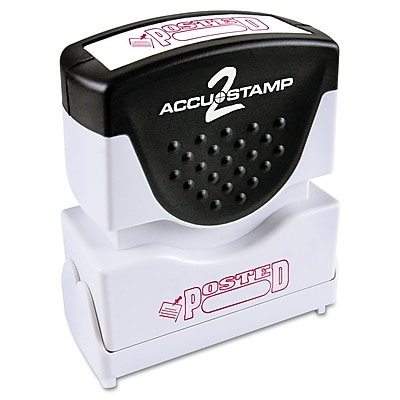Accu-Stamp2® One-Color Pre-Inked Shutter Message Stamp, POSTED, 1/2