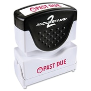 "Accu-Stamp2® One-Color Pre-Inked Shutter Message Stamp, PAST DUE, 1/2"" x 1-5/8"" Impression, Red Ink (035571)"