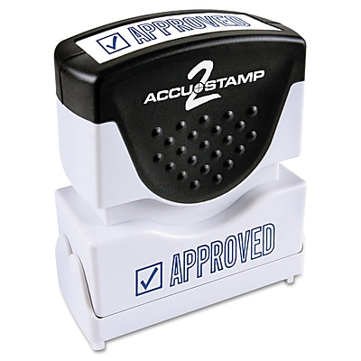 Accu-Stamp2® One-Color Pre-Inked Shutter Message Stamp, APPROVED, 1/2