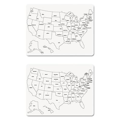 Creativity Street® Two-Side U.S. Map Whiteboard, White, Craft Materials, 24
