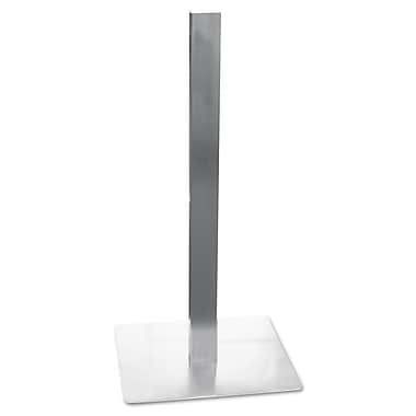 Mayline®, Hospitality Table Square Pedestal Base, 19-3/4 x 19-3/4 x 41, Stainless Steel (CA411S)