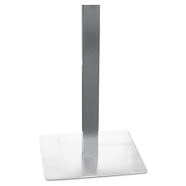 Mayline®, Hospitality Table Steel Square Tube Pedestal Base, 19-3/4 x 19-3/4 x 28, Silver (CA281S)