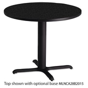 "Mayline®, Bistro Series 36"" Round Laminate Table Top, Charcoal Anthracite (CA36RANT)"