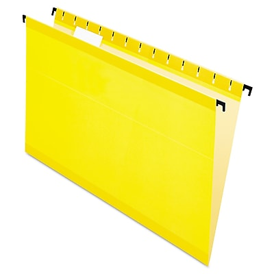 Pendaflex® SureHook® Hanging Folders, Yellow, Legal, 20/Box (6153 1/5 YEL)