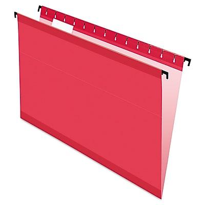 Pendaflex® SureHook® Hanging Folders, Red, Legal, 20/Box (6153 1/5 RED)