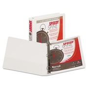 Samsill® Speedy Spine Heavy-Duty Time Saving D-Ring View Binder, 8 1/2 x 11, View, Each (19137C)