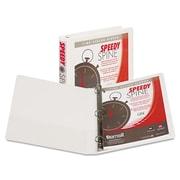 Samsill® Speedy Spine Heavy-Duty Time Saving D-Ring View Binder, 8 1/2 x 11, View, Each (19137C)