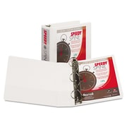 Samsill Speedy Spine™ Time Saving / Easy Spine Label Inserting 3 Ring View Binder, 3 Inch D-Ring, White (SAM19187C)