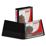 Samsill® Speedy Spine Heavy-Duty Time Saving D-Ring View Binder, 8 1/2 x 11, View, Each (19130C)