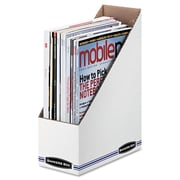"Bankers Box® STOR/FILE™ Corrugated Magazine File, Corrugated Cardboard, 4"" x 11 3/4"", 12/Carton (10723)"