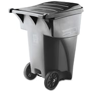 Rubbermaid® Commercial Brute® Roll-Out Heavy-Duty Container, 95 gal, Gray, Each (9W2200)