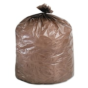 Stout® Controlled Life-Cycle Plastic Trash Bags Trash Bags, 0.8 mil Thickness, Brown, 30 Gallon Bags, 60/Box
