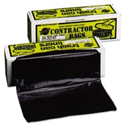 Warp's® Heavyweight Contractor Bags Trash Bags, 3 mil Thickness, Black, 55 gal, 30/Carton