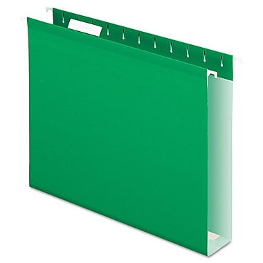 Pendaflex® Extra Capacity Reinforced Hanging File Folders with Box Bottom, Bright Green, Letter, 25/Box (4152X2BGR)