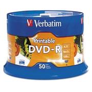 Verbatim® DVD-R Recordable Disc, 4.7 GB, Spindle, 50/Pack (95137)
