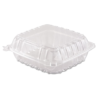 "Dart® ClearSeal® Clear Hinged Containers 3 x 8.3 x 8.3"", 250/Carton (C90T1)"