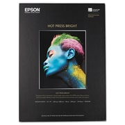 Epson® Hot Press Bright Fine Art Paper, Smooth Matte, 13 x 19, Bright White, Each (S042330)