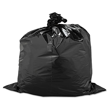 Warp's® Industrial Strength Flex-O-Bags® Trash Can Liners Trash Bags, 1.5 mil Thickness, Black, 33 gal, 100/Carton