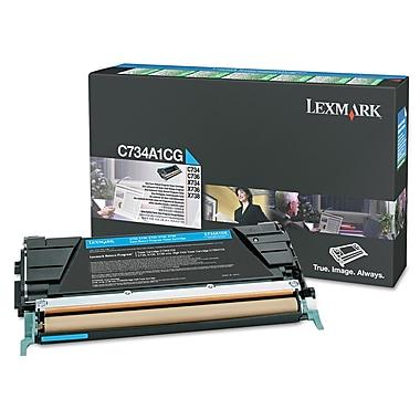 Lexmark™ X746A1CG Toner, 7000 Page-Yield, Cyan