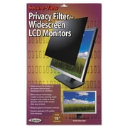 "Kantek Secure-View Black-Out Privacy Filter, Laptop/Flat Panels, 19"" Widescreen, 16:10, LCD (SVL190W)"