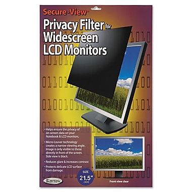 Kantek Secure-View Black-Out Privacy Filter, 21.5